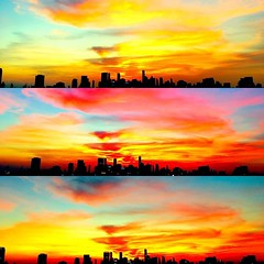 So many stunning colors in the #sky tonight... #bangkok #sunset #skyline