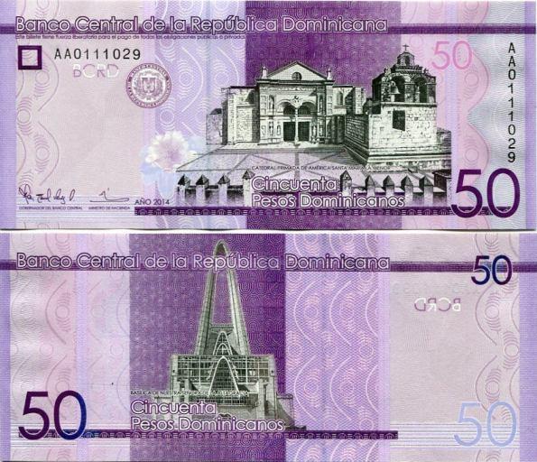 50 Pesos Oro Dominikánska Republika 2014