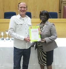 Certificates awarded for the best allotment or leisure gardens - Phipps Bridge Mark Newton