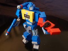 G1 Soundwave a Mini Lego Transformer by BWTMT Brickworks