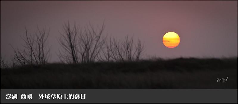 外垵草原上的落日