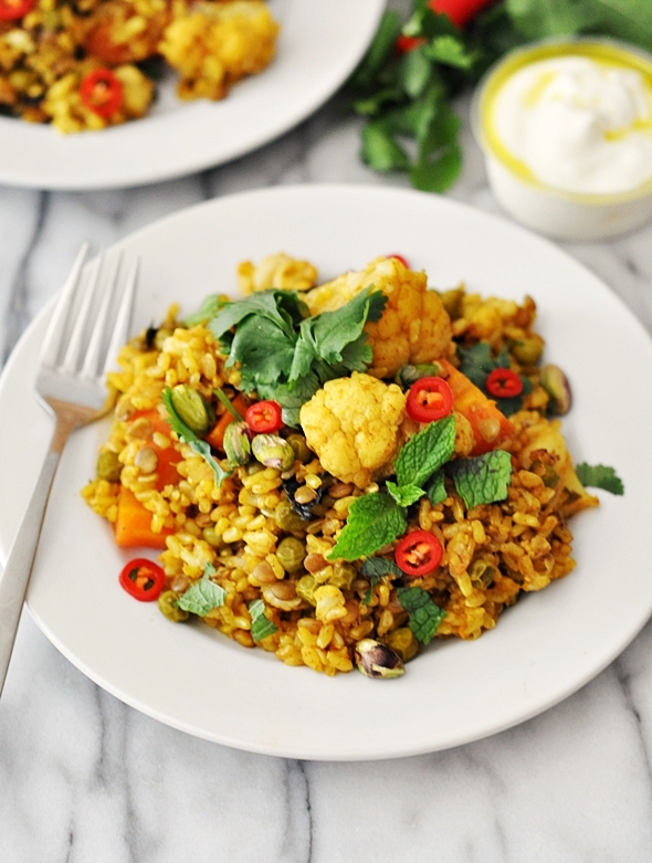 Cheat's Lentil & Vegetables Biryani (ft. SunRice Rice & Lentils)   www.fussfreecooking.com