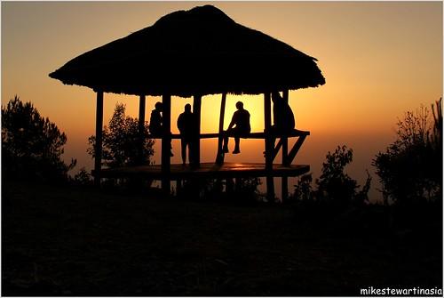 sunset orange silhouette frozen asia southeastasia burma myanmar chinhills mindat mindattownship mikestewartinasia