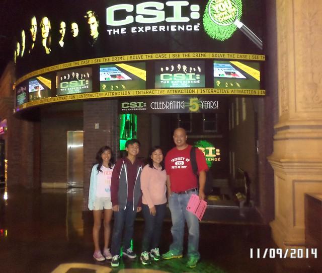 CSI Experience show Las Vegas