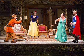 Martin Moran, Candy Buckley, Marcia DeBonis, and Tyler Lansing Weaks in Christopher Durang's smash-hit Broadway comedy Vanya and Sonia and Masha and Spike, directed by Jessica Stone, based on the Broadway direction of Nicholas Martin, playing January 2 – February 1, 2015 at the BU Theatre / Avenue of the Arts. Photo: Jim Cox
