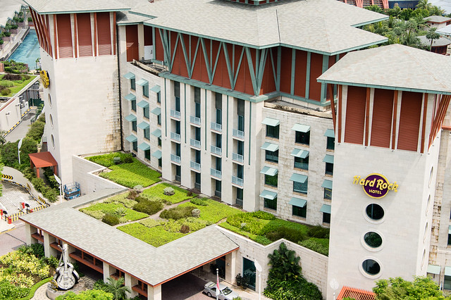 green roof on Hard Rock Hotel