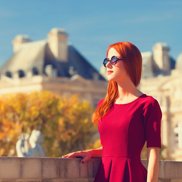 Cute Girl Beauty Beautiful Paris Park France  -3366