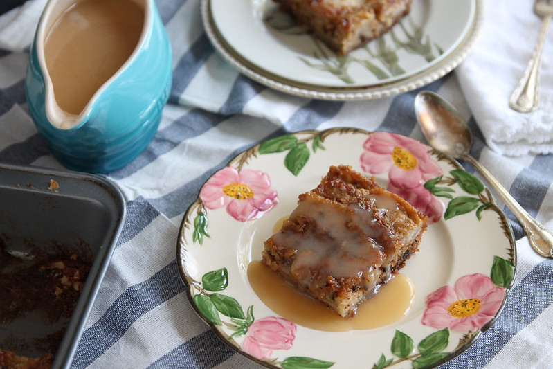 Fresh Apple Cake with a decadent dessert sauce