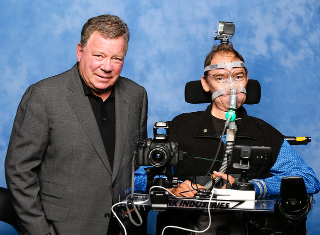 William Shatner and Daniel Baker at Destination Star Trek 3