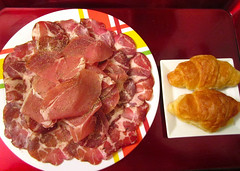 Breakfast Of Champions # 41 – Copa Ham, Prosciutto Ham And Croissants