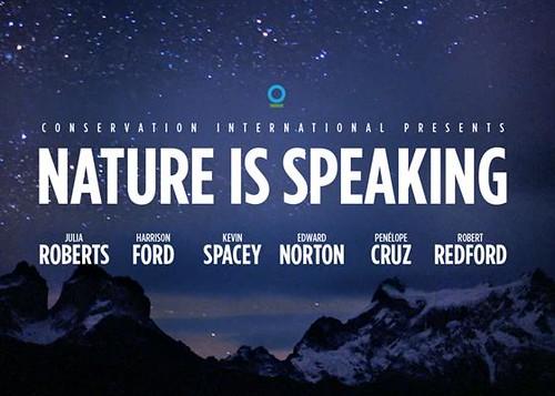 好萊塢一線影星為自然「發聲」。(來源:NatureIsSpeaking.org)