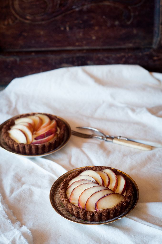 Gluten free Almond and Peach Tarts
