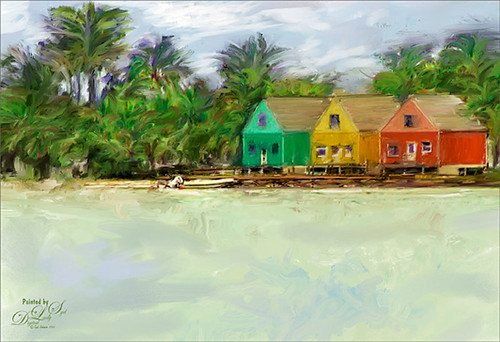 Image of brightly colored houses in Marsh Harbour