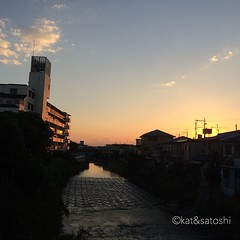 thanks for today! #sunset #osaka #japan