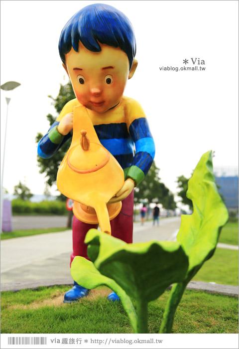 【南科幾米】台南|台積電南科幾米裝置藝術小公園~願望盛開‧許諾之地8