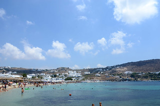 Obraz Ornos Beach (Ορνός) Ornos w pobliżu Mykonos. praia beach island greece ilha mykonos grécia ελλάδα παραλία νησί ελληνικήδημοκρατία μύκονοσ míconos