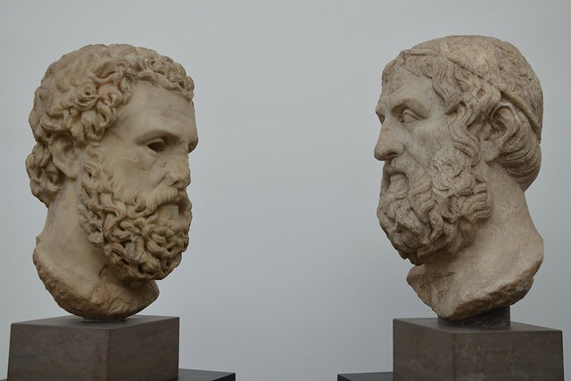 The tragic poets Aeschylus (525-456 BC) and Sophocles (495-406 BC), Ny Carlsberg Glyptotek, Copenhagen