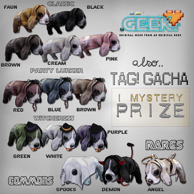 TAG! Gacha Key with Names