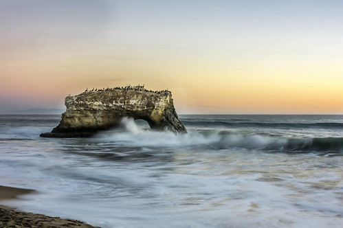ocean sunset santacruz seascape nature outdoors rocks sony ocaso naturalbridges mudstone longexposurephotography sonya580