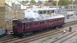 GWR steam railmotor at Southall, October 18th 2014