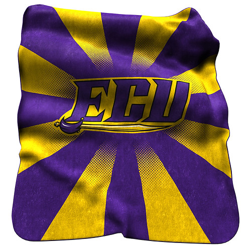 ECU Pirates NCAA Raschel Blanket