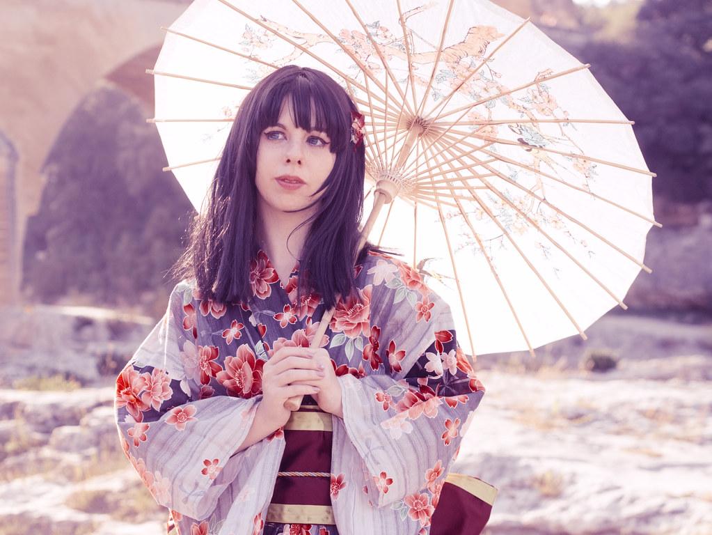 related image - Shooting Kimono - Leia-Chan - Pont du Gard -2014-09-28- P1940530