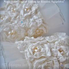 #wedding #cuffs #bride #jewelry #handmade #gift #marriage #fiancee #silk #roses #gemstones #pearls #organza #silk #victorian #etsy #etsysale #engagement #fashion #bridemagazine #prom #bracelet #ivory