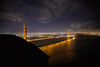 Golden Gate at night by phil dokas
