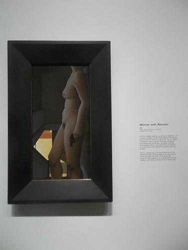 """Alex Colville, """"Woman With Revolver"""" (1987)"""