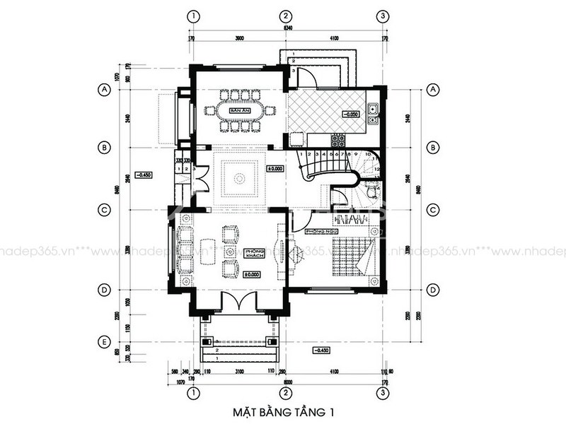 Tư vấn thiết kế biệt thự 2 tầng pháp cổ_4