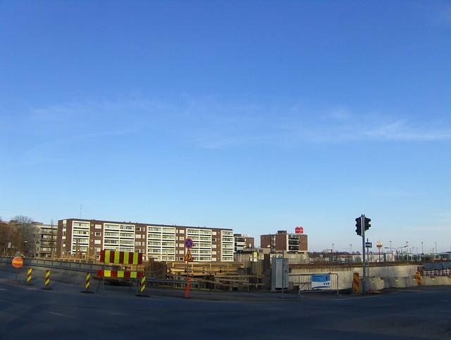 Hämeenlinnan moottoritiekate ja Goodman-kauppakeskus: Työmaatilanne 22.4.2012 - kuva 2