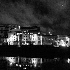 Halloween night on the Quay for Dragon of Shandon parade in Cork City.