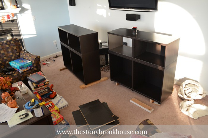 Disassemble entertainment center