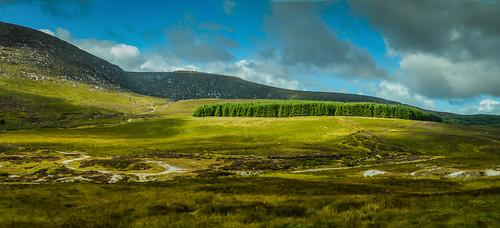 county ireland irish mountain mountains landscape countryside europe mt cloudy hill eu irland eire na hills glendalough valley wicklow mts irlanda irlande éire poblacht airlann héireann