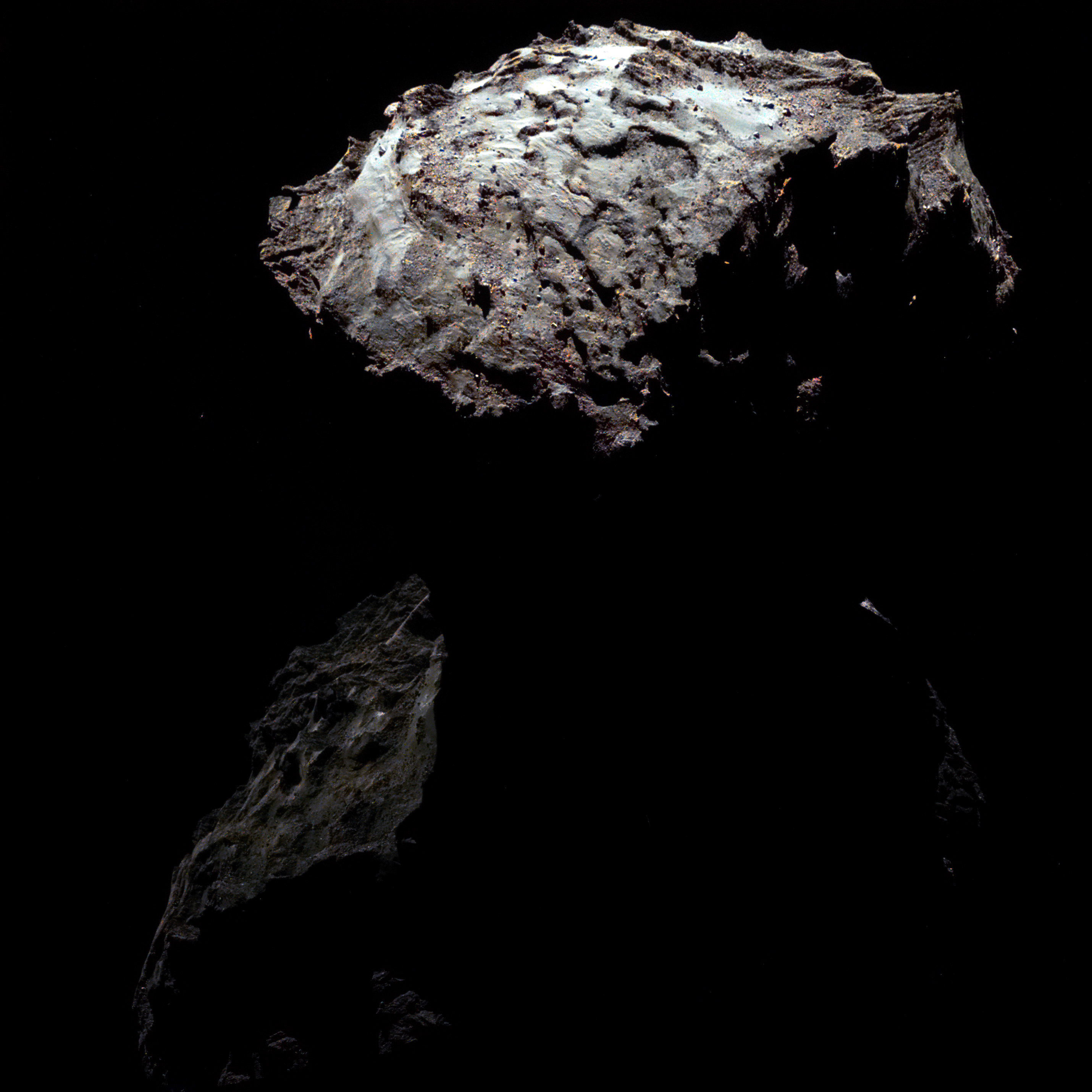 67P Rosetta NavCam 30 October 2014 virtual color