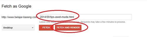 Artikel cepat diindeks dengan  fitur fetch as google1