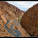 Mike Schurmann posted a photo:	Dadès Gorges, is a gorge of the Dadès River and lies between the Atlas Mountains and the Jbel Saghro of the Anti-Atlas mountain range, in Morocco. Berbers built many kasbahs in vicinity of gorges with defence purposes