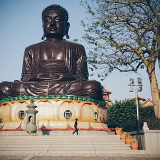 The Baguashan Buddha, #Taiwan You can climb inside and see scenes from Buddha's life. Pretty interesting!