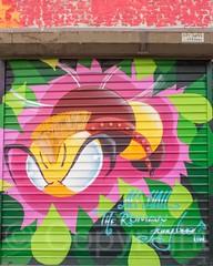 The Bronx Graffiti Art Gallery at Gustiamo Courtyard, Claremont Village, New York City