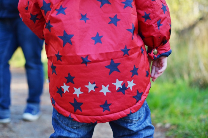 stars on frugi coat