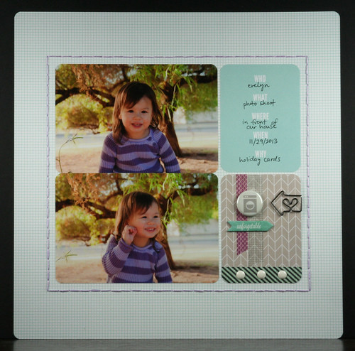 Evie 2013 Holiday Photo Scrapbook Layout | shirley shirley bo birley Blog