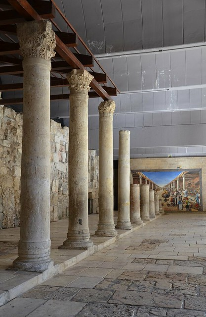 Reconstructed southern section of the Cardo Maximus of Aelia Capitolina dating to the Byzantine era, Jerusalem
