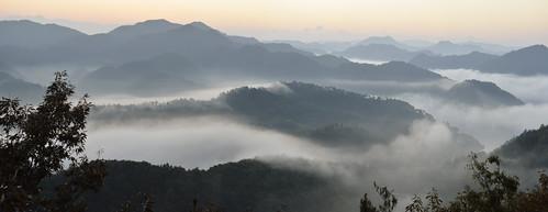 autumn nature fog landscape dawn korea seoul seaofclouds guksabong okjeonglake nikondf