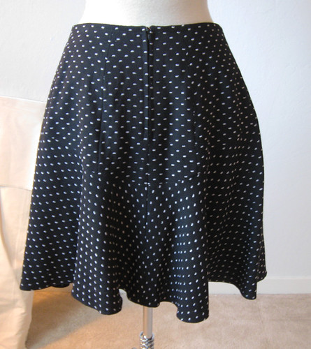black dot skirt back