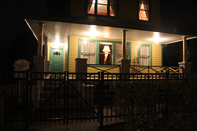 A Christmas Story House, Cleveland, at Night