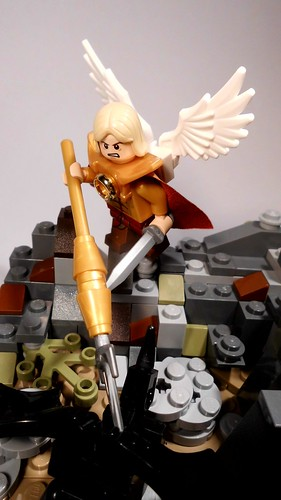 Archangel Michael slaying a demon (6)