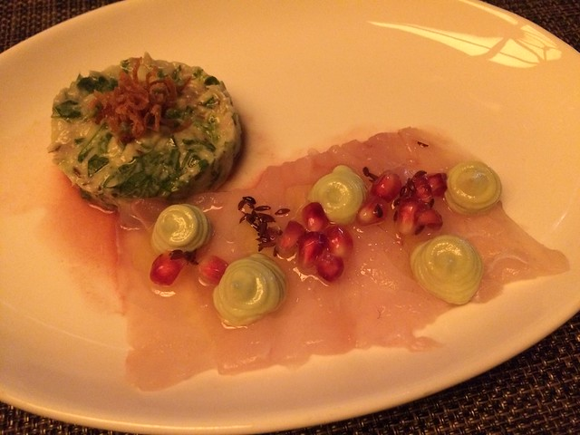 Raw and marinated bass - Abe Fisher