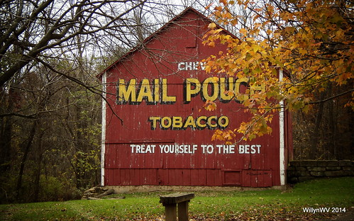 ohio barn advertising mailpouch cabins belmontcounty ohiovalley geotaggedohio pioneervilliage barkcampstatepark