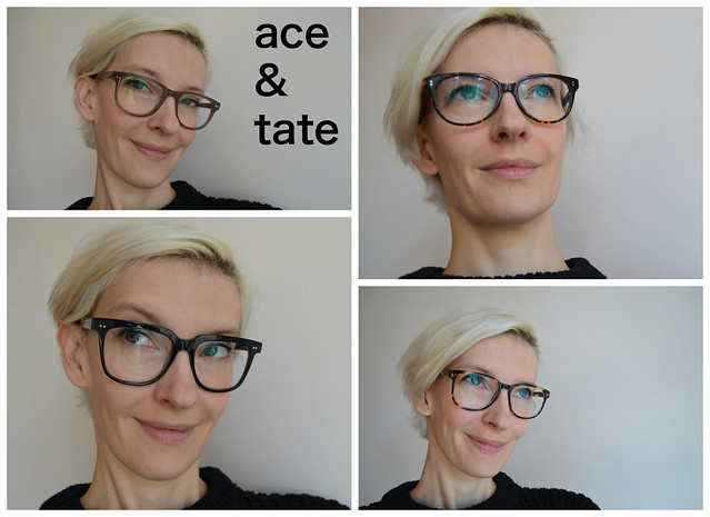 ace and tate eyeglasses home try-on collage art jane george dustin