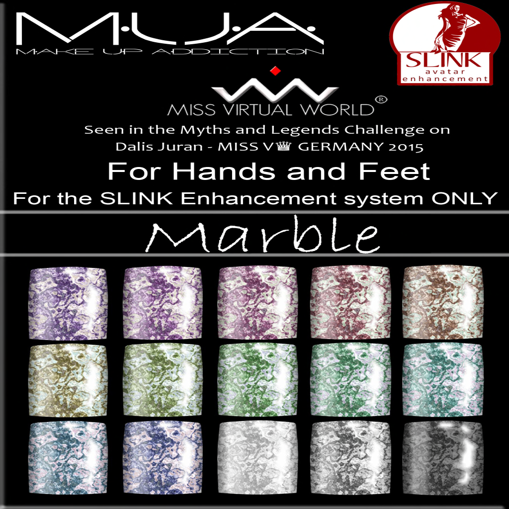 {MUA} - Slink Nails HUD -Marble